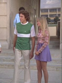 Greg & Marcia. First day of high school for Marcia