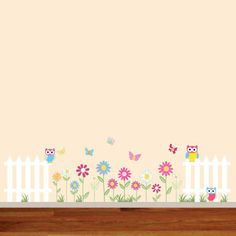 butterfly and flower wall mural decal - Google Search