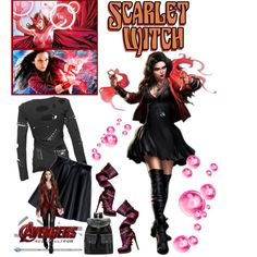 Wanda Maximoff//Scarlet Witch - Elizabeth Olsen by fashionqueen76 on Polyvore featuring MSGM, Avengers, marvel and dreamcast