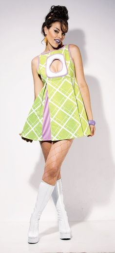 Appletini Mini Adult Costume #mod #sixties #gogo