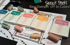 2016-2018 In-Color Sneak Peek.  Dapper Denim, Emerald Envy, Flirty Flamingo, Peek-a-Boo Peach, Sweet Sugerplums.