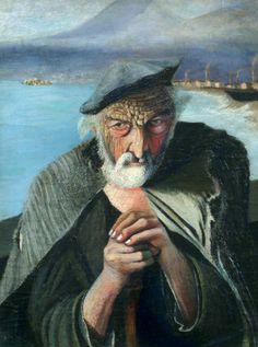 Old Fisherman, 1902 by Tivadar Kosztka Csontvary on Curiator, the world's biggest collaborative art collection. Paul Gauguin, Gustav Klimt, Old Fisherman, Post Impressionism, Mark Rothko, Old Paintings, Art Database, Hanging Art, Gravure