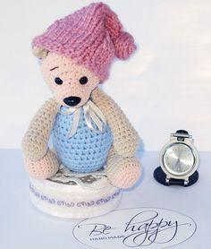 Crochet bear plush, crochet bear amigurumi, teddy bear cotton toy,crochet amigurumi stuffed animal, soft baby toy