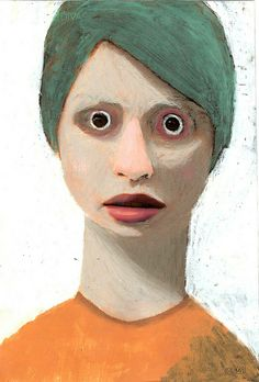 Disturbing, but I kinda like it. Portraits, Portrait Art, Color Palette Generator, Scary Art, A Level Art, True Art, Figure Painting, Figurative Art, Fine Art Paper