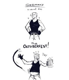 Hahaha I'm so pumped for Oktoberfest!