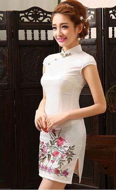 Cheongsam Dress OBN8822WH