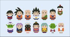 Dragon Ball Z - Mini People - Pattern by CloudsFactory