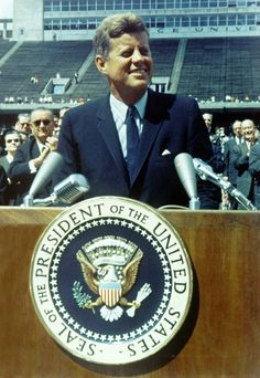 John F Kennedy, President of the United States of America speaking on travel to the Moon, Rice University Stadium, 12 September Get premium, high resolution news photos at Getty Images John Kennedy, Les Kennedy, Kennedy Speech, Marie Curie, Steve Jobs, Juri Gagarin, Operation Northwoods, Mission Apollo 11, Nasa
