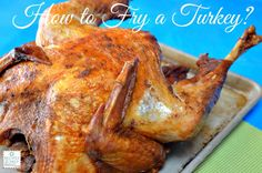 Best Fried Turkey Ever! How to Deep Fry a Turkey? Meat Recipes, Turkey Recipes, Snack Recipes, Cooking Recipes, Best Fried Chicken Recipe, How To Cook Chicken, No Cook Meals, My Favorite Food, The Best
