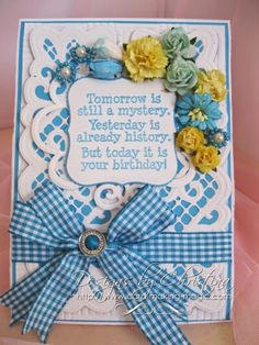 Flowers, Ribbons and Pearls: Friday Freebie 033