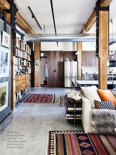 Kara's loft space in issue 31 photographed by Donna Griffith.