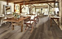 This Maple Carob Flooring from the Kährs Artisan Collection, is a rustic product. Grey stain and nature oil.  The Artisan Collection is a range of rustic oak floors, with a hand-crafted surface finish, combining rustic elegance with cool contemporary design.