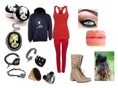 """""""Carolyn #1"""" by carterwriter ❤ liked on Polyvore featuring Betsey Johnson, Electric Picks, LeiVanKash and Topshop"""