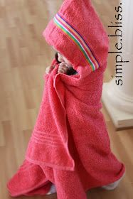 Quality Sewing Tutorials: Child's Hooded Towel tutorial by One Simple Bliss