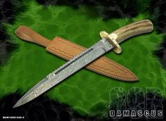 HANDMADE FORGED DAMASCUS BOWIE KNIFE      FOR ORDER: bhrcuttlery2015@gmail.com       Bilal.anjum@kmatraders.net