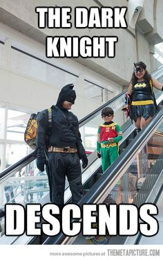 Escalator Batman