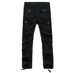Magiftbox Mens Casual Cargo Pants Multiple Pockets Trousers