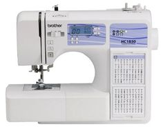 cool Brother HC1850 Computerized Sewing and Quilting Machine with 130 Built-in Stitches, 8 Presser Feet, Sewing Font, Wide Table, and Instructional DVD