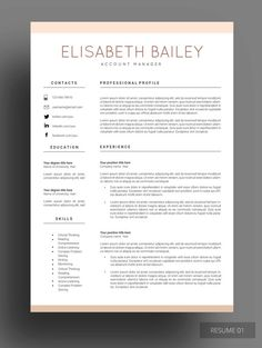 LEXI RESUME Leave a lasting impression to your future employer by this amazingly designed resume template. This design is modern, simple and sophisticated. You can and will definitely win that position. Be the best that you can be!
