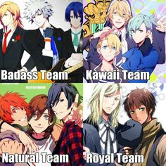 I'm having a hard time deciding between the Natural Team and the Kawaii team...decisions, decisions... | UtaPri ~~ Teamwork 2000% #otaku #otome #fangirl