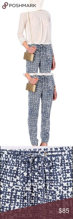 Michael Kors Printed Joggers Michael by Michael Kors printed track pants in a loose fit. These trousers features an elasticated waist and cuff, drawstring tie and four pockets. Retail Price------ $140 Fits true to size Cut with a regular fit  Machine washable Michael Kors Pants Track Pants & Joggers