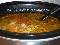 Heerlijke Pittige Kippensoep A La Louise(slowcook&gas) recept | Smulweb.nl Cooks Slow Cooker, Crock Pot Slow Cooker, Crock Pot Cooking, Slow Cooker Recipes, Soup Recipes, Great Recipes, Vegetarian Recepies, Multicooker, Chili Lime