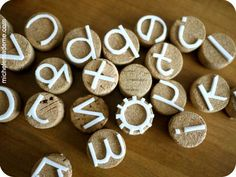 tutorial: make your own cork stamps for clay (or paper...).
