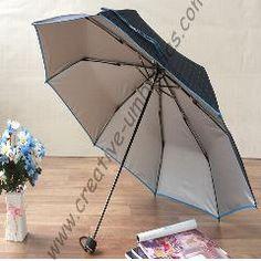 [ $35 OFF ] (3Lots Get 1Lot Free)Ox Carbon Anti-Thunder Fiberglass Windproof Velvet Parasol Anti-Uv Business Compact Pocket Folding Umbrella