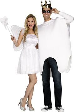 Tooth Fairy and Tooth Adult Couples Costume