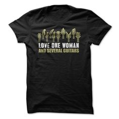 Love One Woman and Several Guitars T-Shirt & Hoodie – I Love Apparel