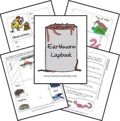 Earthworm Lapbook Unit Study FREE Lessons Printables