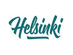 Dribbble - Helsinki - lettering by Mika Melvas