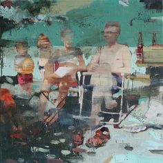 Tor-Arne Moen - The other family | 100x100 cm | Egg-oil on canvas | 2011