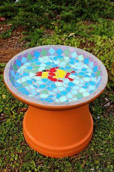 How to Make a Homemade Mosaic Bird Bath | eHow