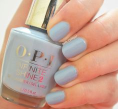 By @nailscontext - swatch of #opi infinite Shine, Reach for the sky