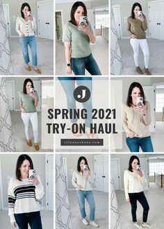 I've got another try-on haul for you today. I've been vetting a lot of pieces for my spring fashion series next month, so I went through and chose a few to share with you today. I've got styles for women over 40 from Everlane, Banana Republic, Evereve, Target, Old Navy, Shopbop and more!