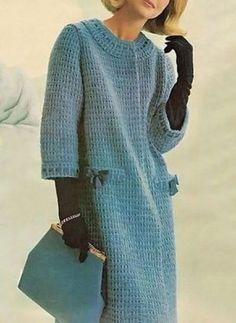 Fabulous Crochet a Little Black Crochet Dress Ideas. Georgeous Crochet a Little Black Crochet Dress Ideas. Crochet Coat, Crochet Jacket, Knitted Coat, Crochet Cardigan, Crochet Shawl, Crochet Clothes, Vintage Knitting, Vintage Crochet, Cardigan Outfits
