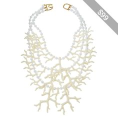 Kenneth Jay Lane Triple-Strand Faux Coral-Branch Statement Necklace
