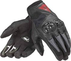 Dainese Motorcycle Gloves Mig short Glove Airy Summer Size L Black New Leather Motorcycle Gloves, Leather Work Gloves, Custom Motorcycle Helmets, Motorcycle Gear, Women Motorcycle, Leather Fabric, Cowhide Leather, Ducati Monster Custom, Riding Gear