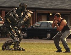 Real Steel,  boxing without blood, robots, hugh jackson, sci-fiction.  nice movie
