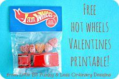 Little Bit Funky: Free Hotwheels printable! {Valentines for boys!}