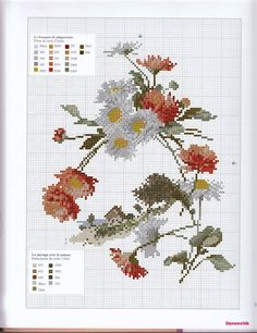 cross stitch daisy flowers and clover flowers Just Cross Stitch, Cross Stitch Needles, Cross Stitch Flowers, Cross Stitch Charts, Cross Stitch Designs, Cross Stitch Patterns, Cross Stitching, Cross Stitch Embroidery, Embroidery Patterns