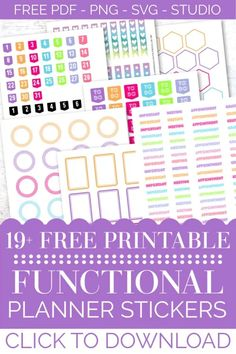 FREE Printable Digital Planner Stickers for Functional Happy Planner Decorating and Organization! To Do Planner, Planner Tabs, Study Planner, Planner Layout, Free Planner, Happy Planner, Planner Ideas, 2015 Planner, Planner Diy