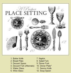 Victorian hostesses always knew how to set a proper table  sc 1 st  Pinterest & Table Setting Tips | Vintage silver China patterns and Table settings