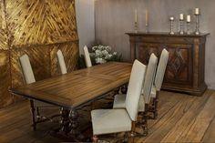 Pietro Dining Table, Vera Buffet    www.taracea.com