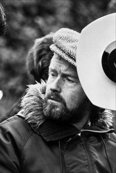 """Ridley Scott on the set of """"The Duellists"""" (1977)."""