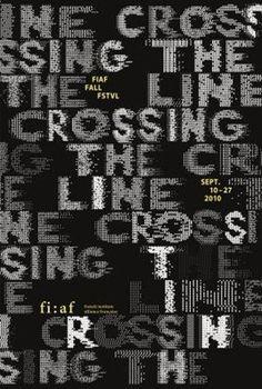 Philippe Apeloig, Crossing the Line, 2010, 150×100cm, zeefdruk
