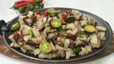 Lechon Kawali Sisig Filipino Appetizers, Delicious Appetizers, Filipino Dishes, Sisig Recipe, Lechon Kawali, Pork Roast, Potato Salad, Chicken, Ethnic Recipes