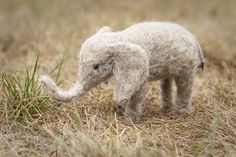 Needle Felted Animal - Elephant