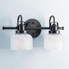 Bath shades of light Fresnel Glass Restoration Bath Light - 2 Light  125.00  similar at Home Depot